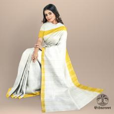Golden Cream - Desi Tussar Saree