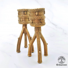 Candle Stand Pair- Brass Dhokra Mural