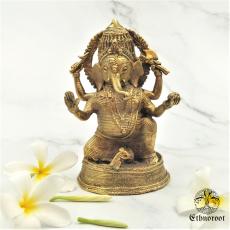 Ganesha - Brass Dhokra Mural