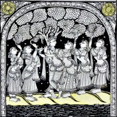 Dashavtar - Hand Painted Pattachitra Painting
