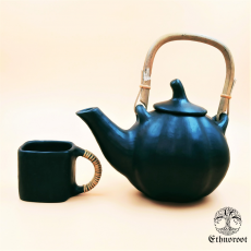 Pumpkin Kettle - Black Longpi Pottery
